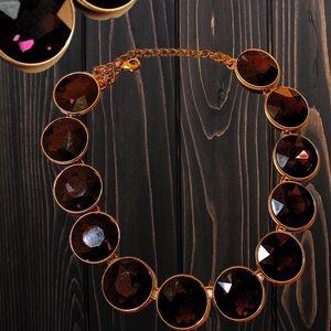 Purple Drop statement necklace